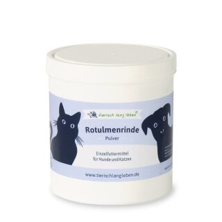 Rotulmenrinde Pulver 250 g für Hund & Katze